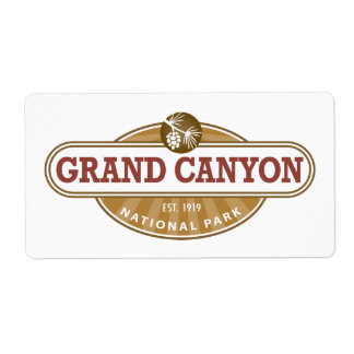 Grand Canyon National Park Label