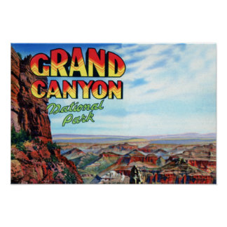 Grand Canyon National Park Large Letter Poster