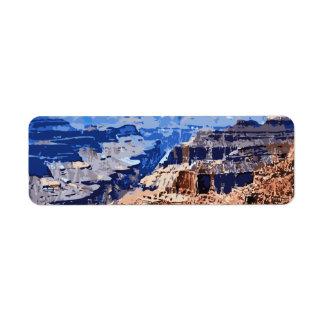 Grand Canyon National Park Retro Design Label