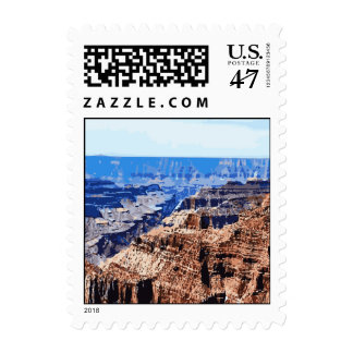 Grand Canyon National Park Retro Design Stamp