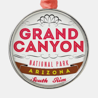 Grand Canyon national park Round Metal Christmas Ornament