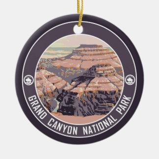Grand Canyon National Park Souvenir Double-Sided Ceramic Round Christmas Ornament