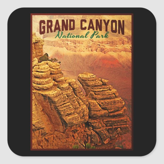 Grand Canyon National Park Square Sticker