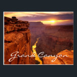 "Grand Canyon National Park Sunset Arizona Postcard<br><div class=""desc"">Words can only hope to describe the vision that is the Grand Canyon. Those who see it for the first time often find themselves at a loss for words, and others still say seeing it for the first time is 'like a religious experience. This post card features a beautiful sunset...</div>"