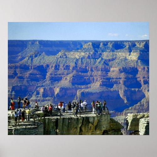 Grand Canyon National Park Tourists Poster