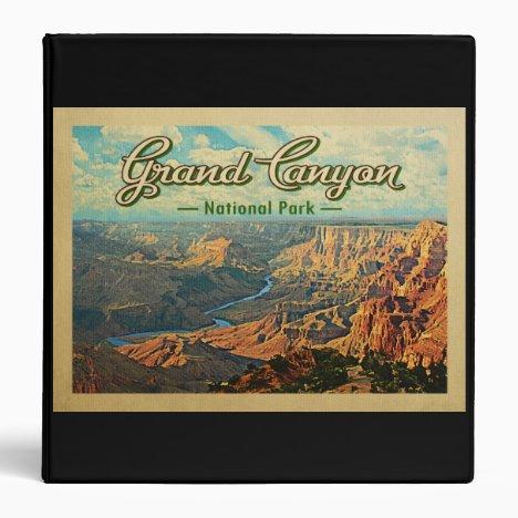 Grand Canyon National Park Vintage Travel 3 Ring Binder