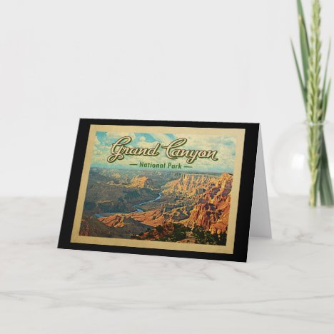Grand Canyon National Park Vintage Travel Card