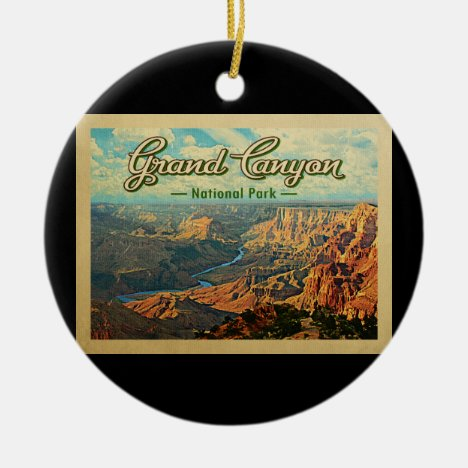 Grand Canyon National Park Vintage Travel Ceramic Ornament