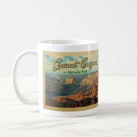 Grand Canyon National Park Vintage Travel Coffee Mug