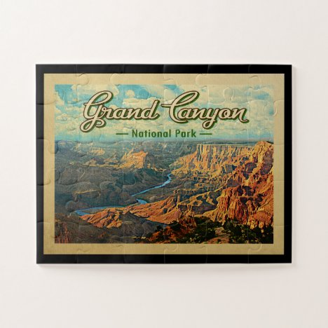 Grand Canyon National Park Vintage Travel Jigsaw Puzzle