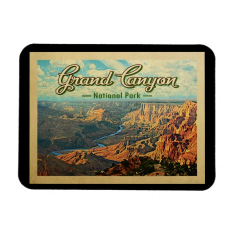 Grand Canyon National Park Vintage Travel Magnet