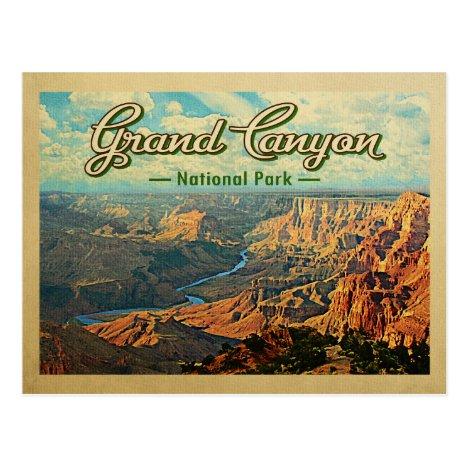 Grand Canyon National Park Vintage Travel Postcard
