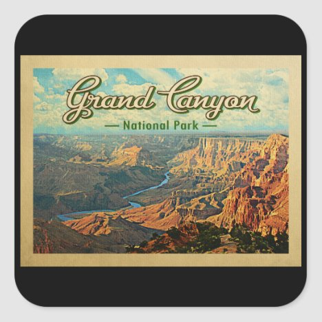 Grand Canyon National Park Vintage Travel Square Sticker