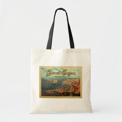 Grand Canyon National Park Vintage Travel Tote Bag