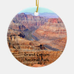 Grand Canyon National Park West Rim Double-Sided Ceramic Round Christmas Ornament