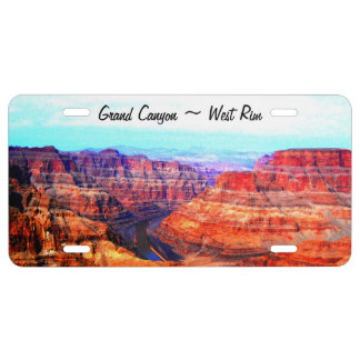 Grand Canyon National Park West Rim License Plate