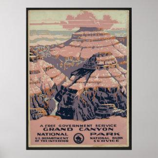 Grand Canyon National Park WPA Poster