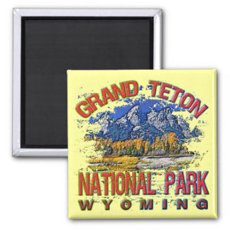 Grand Canyon National Park, Wyoming 2 Inch Square Magnet