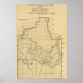 Grand Canyon National ParkPanoramic Map Print