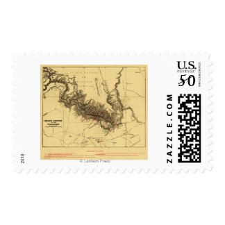 Grand Canyon of Colorado RiverPanoramic Map Postage