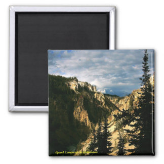 Grand Canyon of the Yellowstone 2 Inch Square Magnet