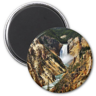 Grand Canyon Of The Yellowstone Park Looking Towar 2 Inch Round Magnet
