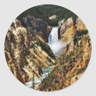 Grand Canyon Of The Yellowstone Park Looking Towar Classic Round Sticker