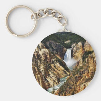 Grand Canyon Of The Yellowstone Park Looking Towar Keychain