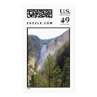 Grand Canyon of the Yellowstone, Upper Falls Postage