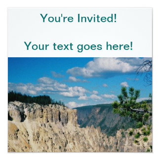 "Grand Canyon of Yellowstone 5.25"" Square Invitation Card"