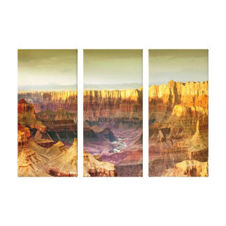 grand canyon panorama 3 panel canvas