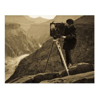 Grand Canyon Photographer Large Movie Camera Postcard