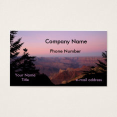 Grand Canyon Photography Business Card at Zazzle