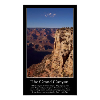 Grand Canyon (piper quote) Poster