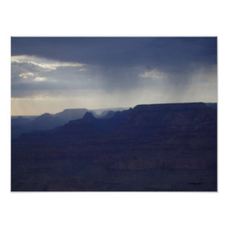 Grand Canyon Rainfall Poster