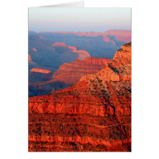 grand canyon red greeting card