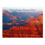 grand canyon red greetings post cards