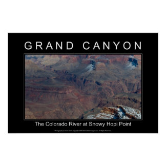 Grand Canyon River 2968 Black Poster