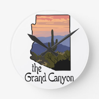 Grand Canyon Round Clock