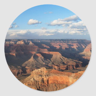 Grand Canyon seen from South Rim in Arizona Classic Round Sticker