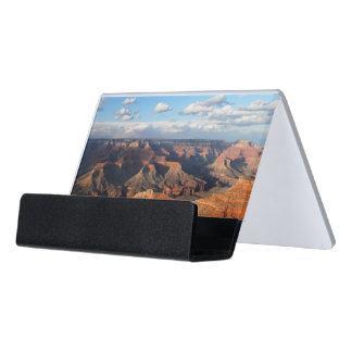 Grand Canyon seen from South Rim in Arizona Desk Business Card Holder