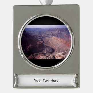 Grand Canyon Silver Plated Banner Ornament