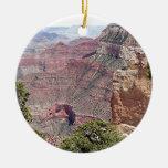 Grand Canyon South Rim, Arizona 2 Double-Sided Ceramic Round Christmas Ornament