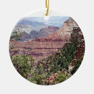 Grand Canyon South Rim, Arizona 6 Double-Sided Ceramic Round Christmas Ornament