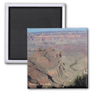 Grand Canyon / South Rim / Donkey Trail 2 Inch Square Magnet