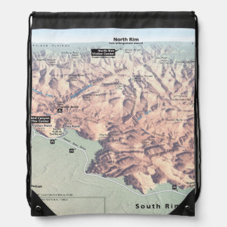 Grand Canyon South Rim map backpack