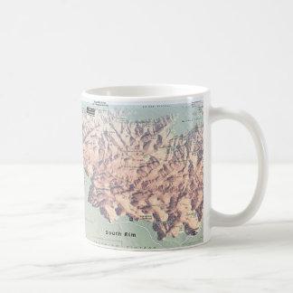 Grand Canyon South Rim map mug