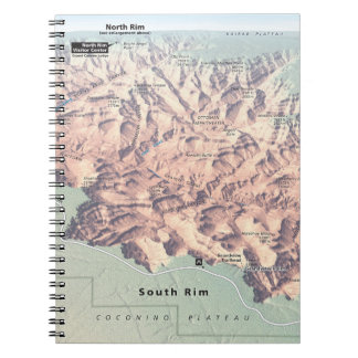 Grand Canyon South Rim map notebook