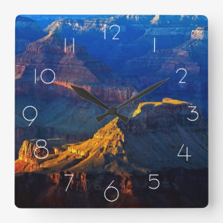 Grand Canyon South Rim Square Wall Clock