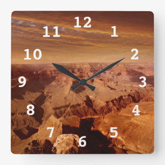Grand Canyon Square Wall Clock